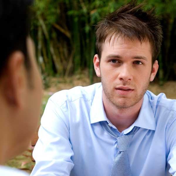 young man receiving counseling